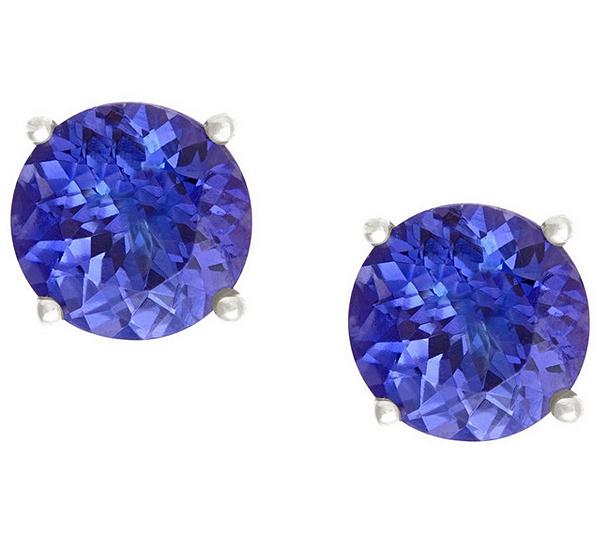 Tanzanite Stud Earrings 14kgold Product Thumbnail Please Select An Option