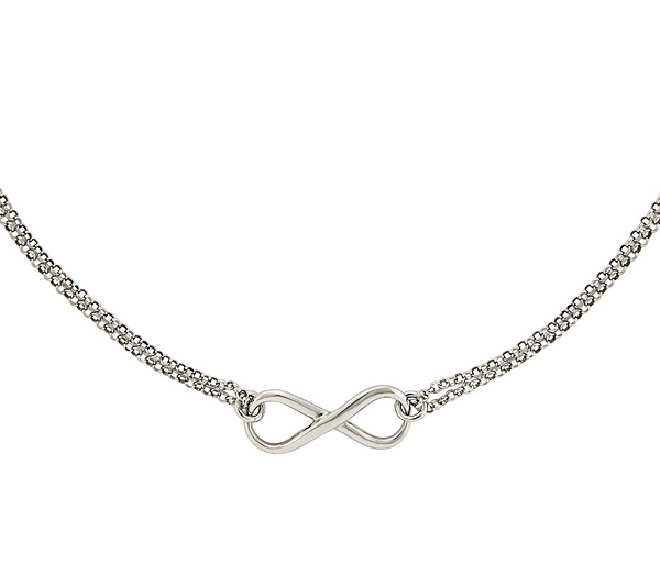 Sterling Silver Infinity Symbol 18 Necklace By Silver Style Page