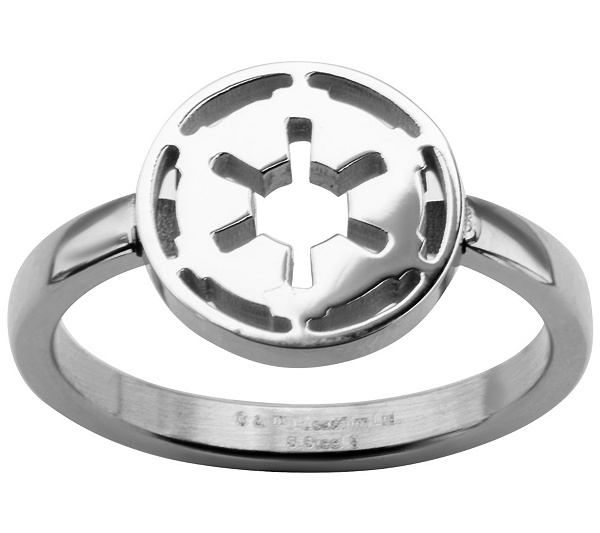 Star Wars Stainless Galactic Empire Symbol Cutout Ring Qvc