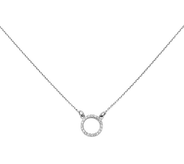 silver zen pendant fluid necklace sterling enso circle
