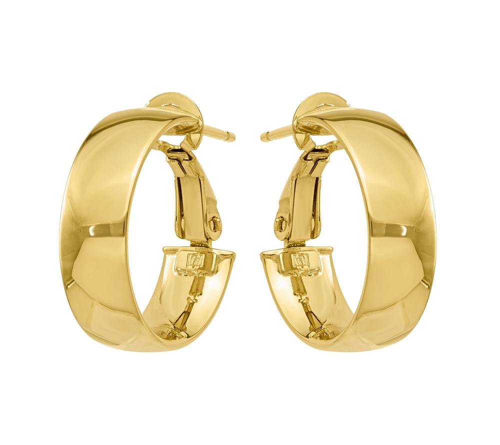 Nest High Polish Hoop Earrings Ihfdohf2iW