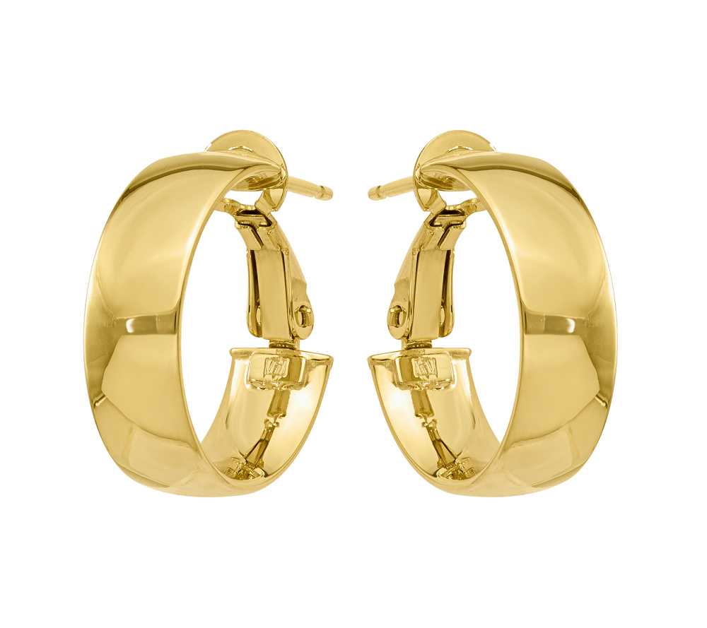 14K Gold Polished Hoop Earrings Page 1 — QVC