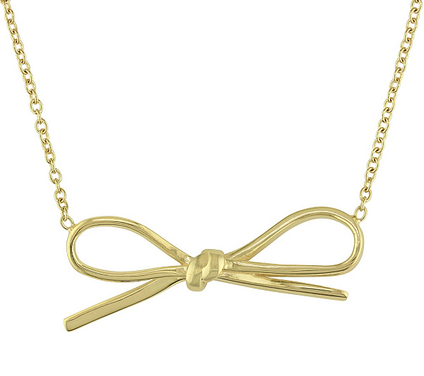 Sterling bow necklace by silver style qvc aloadofball Images