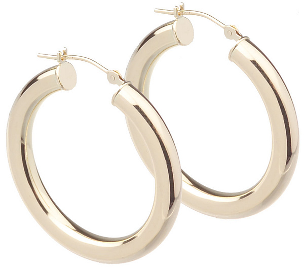 Eternagold Polished Small Clic Hoop Earrings 14k Gold Page 1 Qvc