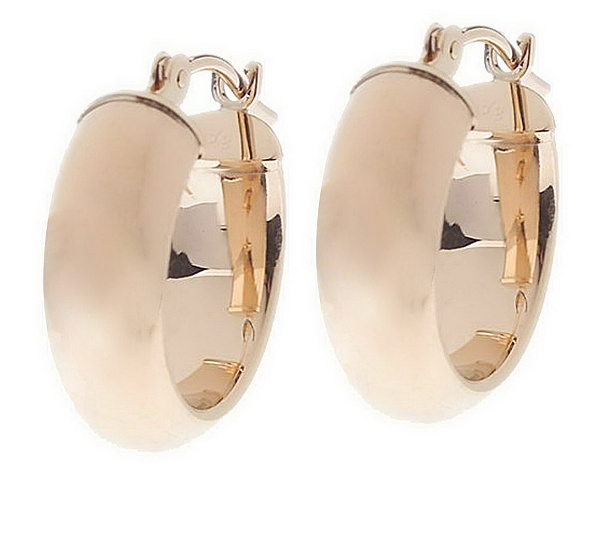 Eternagold Polished Huggie Hoop Earrings 14k Gold Product Thumbnail In Stock