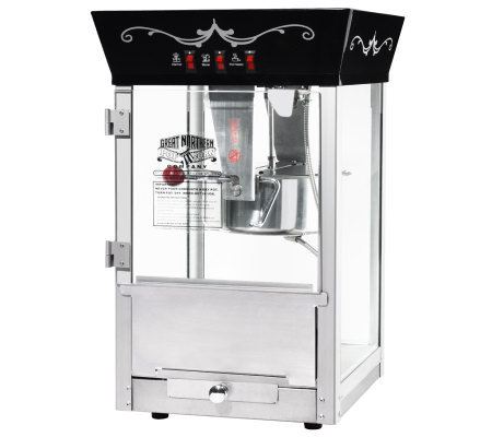 Black Matinee Movie 8-oz Antique-Style PopcornMachine