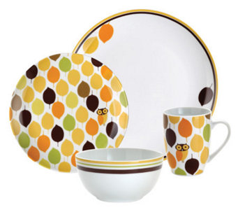 Rachael Ray Little Hoot 16-Piece Dinnerware Set - K297300  sc 1 st  QVC.com & Rachael Ray \u2014 Sets \u2014 Dinnerware \u2014 Tabletop \u0026 Bar \u2014 Kitchen \u0026 Food ...