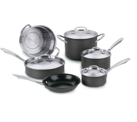 Cuisinart Green Gourmet Nonstick 10-Piece Cookware Set