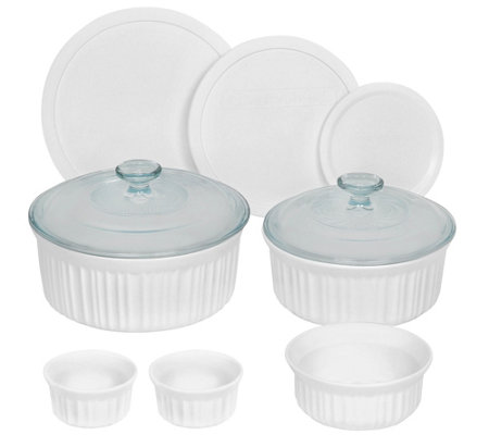 CorningWare French White Round Bakeware 10-Piece Set