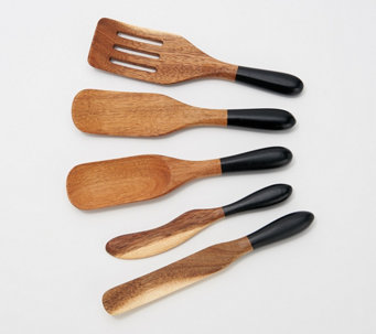 Mad Hungry 5-Piece Acacia Wood Mini Spurtle Set - K49000