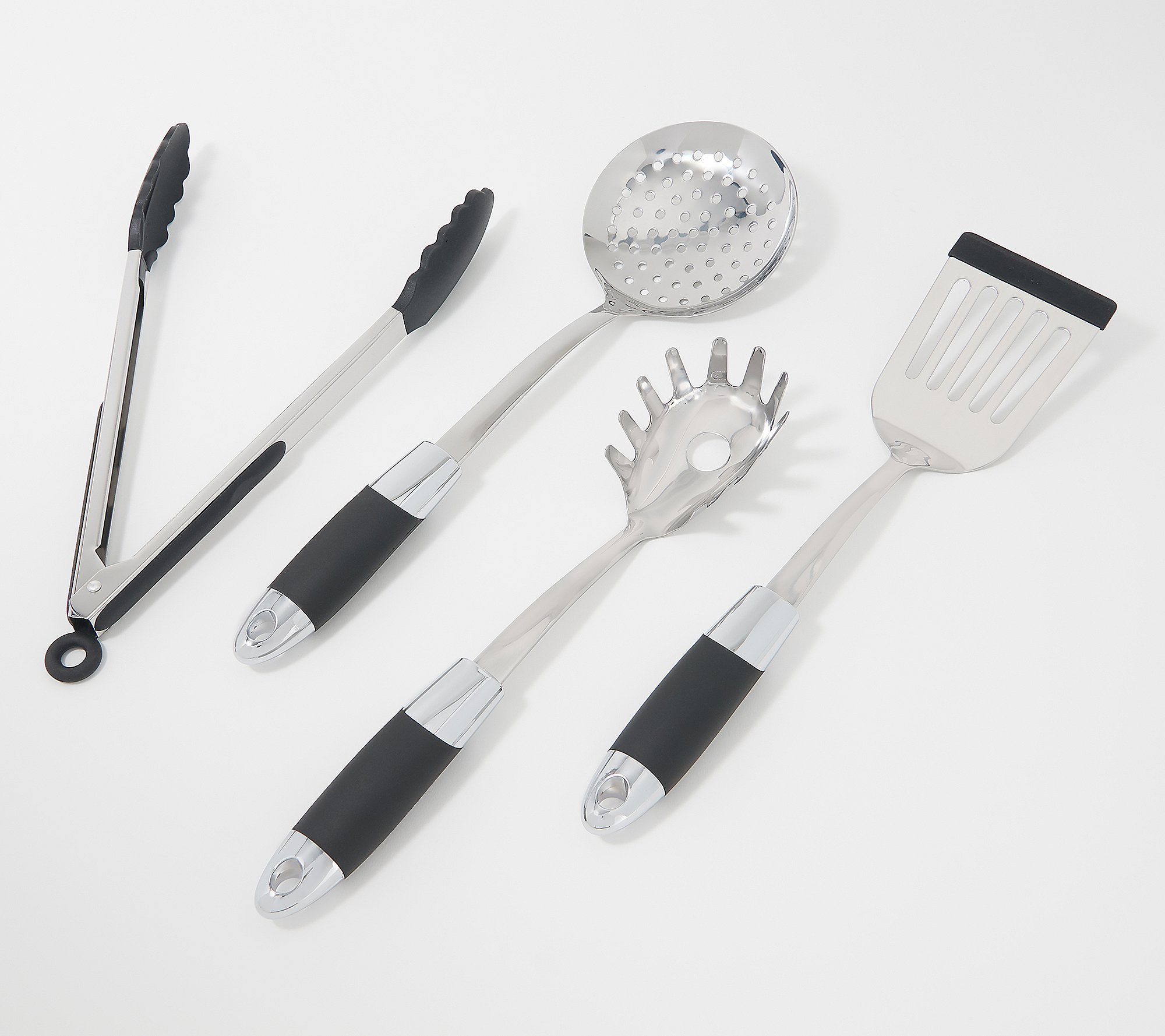Set Of 4 Specialty Stainless Steel Kitchen Utensil Set Qvc Com