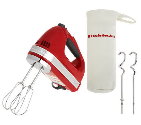 5c9a3ceb654 KitchenAid 721 Series 7-Speed Digital Hand Mixer w  Bag   Dough Hooks