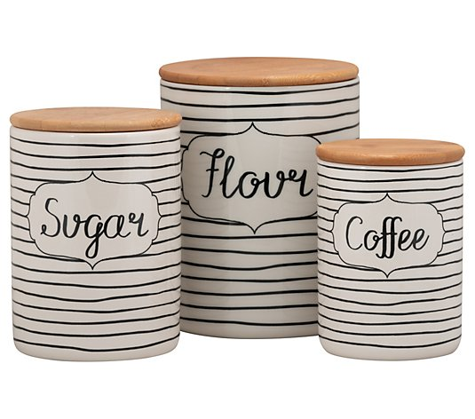 10 Strawberry Street 3-Piece Everyday Ceramic Canisters