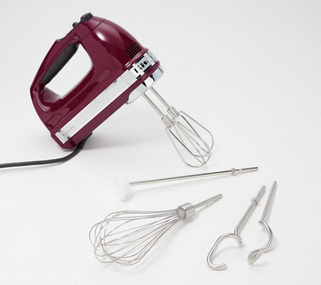 kitchenaid 9 speed digital hand mixer w wire whisk blender rod - Kitchen Aid Hand Mixer