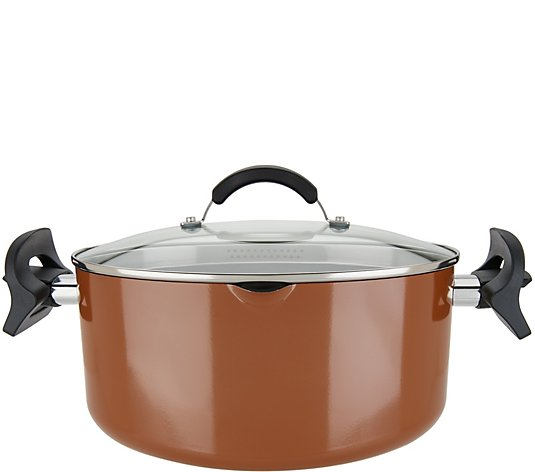Cook's Essentials Porcelain 6-qt Oval Pasta Pot