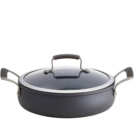 Epicurious Hard-Anodized 4-qt Covered Sauteuse