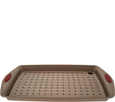 """As Is"" Rachael Ray Nonstick 11"" X 17"" Crisper Pan w/ Insert Tray"