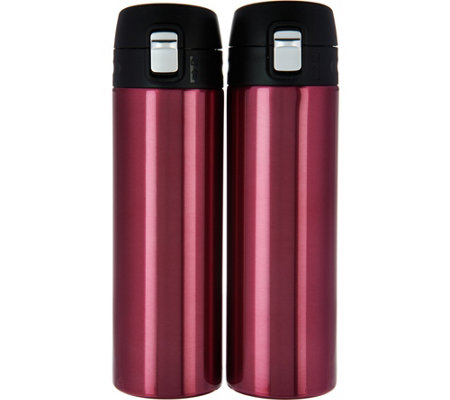 Lock & Lock Set of 2 16oz. Lightweight Stainless Steel Tumblers