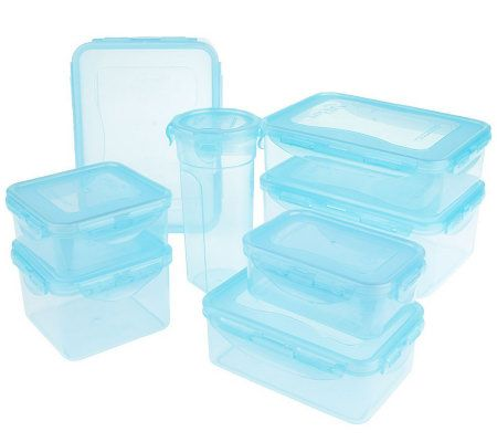 Lock Lock 8 piece Color Food Storage Container Set Page 1 QVCcom