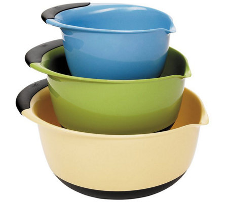 OXO Good Grips 3-Piece Mixing Bowl Set - Blue/Green/Yellow