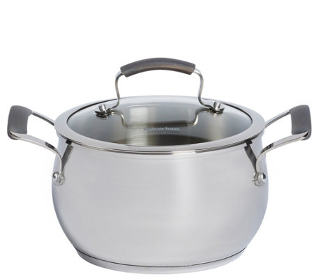 Epicurious Stainless Steel 4-qt Covered Soup Pot