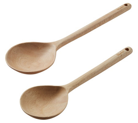 Ayesha Curry 2-Piece Parawood Solid Spoon Set