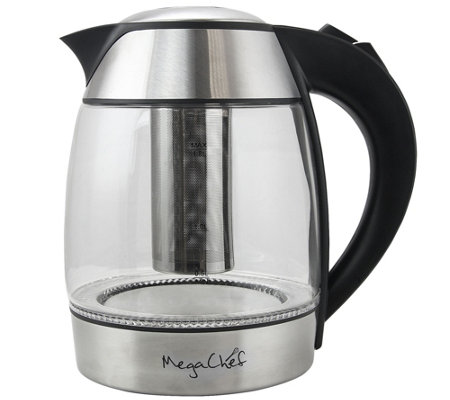 MegaChef 1.8-Liter Electric Teakettle with Infuser