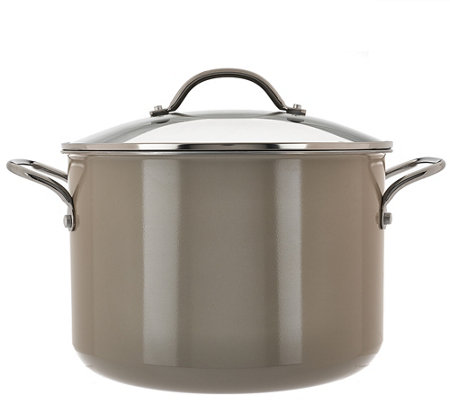 Cook's Essentials 10qt. Porcelain Enamel Stock Pot w/Handles