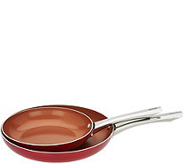 "Cook's Essentials Ceramic Nonstick 10"" & 12"" Skillet Set - K45905"