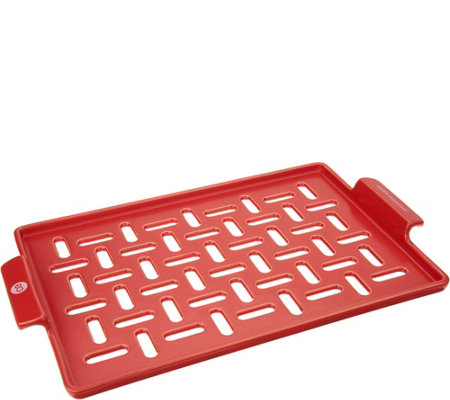 """As Is"" Cook's Essentials High Heat Ceramic BBQ Pan"