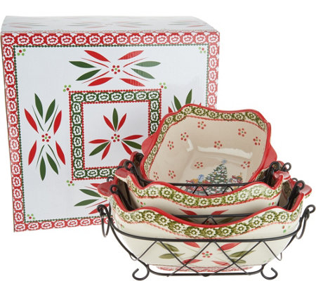 """As Is"" Temp-tations Holiday 6pc Baking and Serving Set"