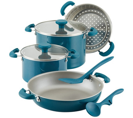 Rachael Ray Create Delicious 8-Pc Aluminum Cookware Set