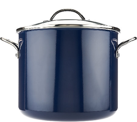 CooksEssentials 12 qt. Porcelain Enamel Stock Pot w/Handles