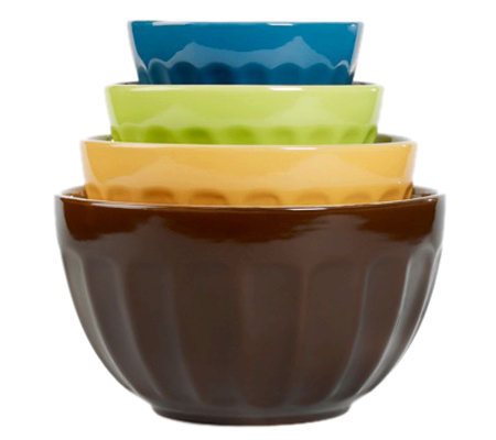 Tabletops Gallery 4-Piece Mixing Bowl Set - Cafe Multi