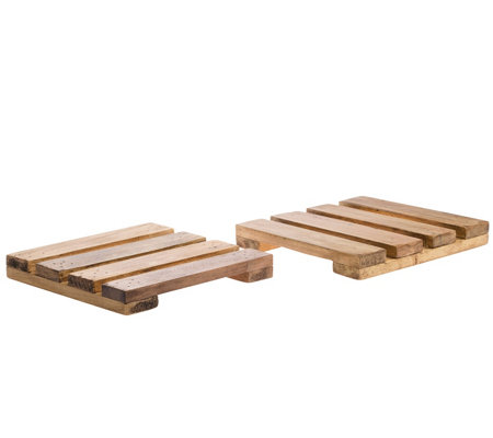 Down To Earth Set Of 2 8 Pallet Trivets