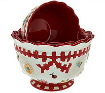 Temp-tations Set of 3 Gingham Garden Nesting Bowls - K43407