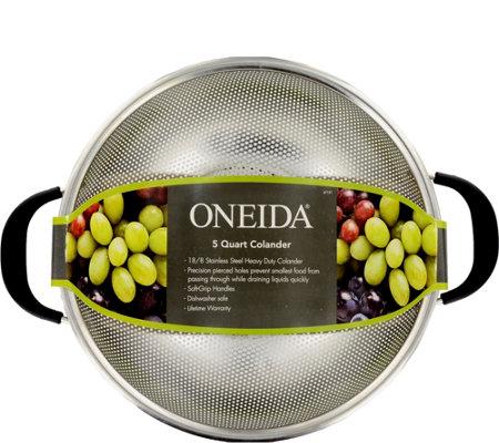 Oneida 5 Qt Stainless Steel Colander