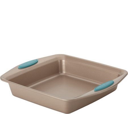 "Rachael Ray Cucina Nonstick 9"" Square Cake Pan- Latte Brown"