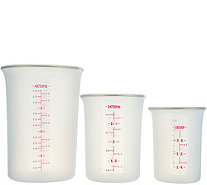 Cook's Essentials Set of 3 Silicone Measuring Cups - K46809