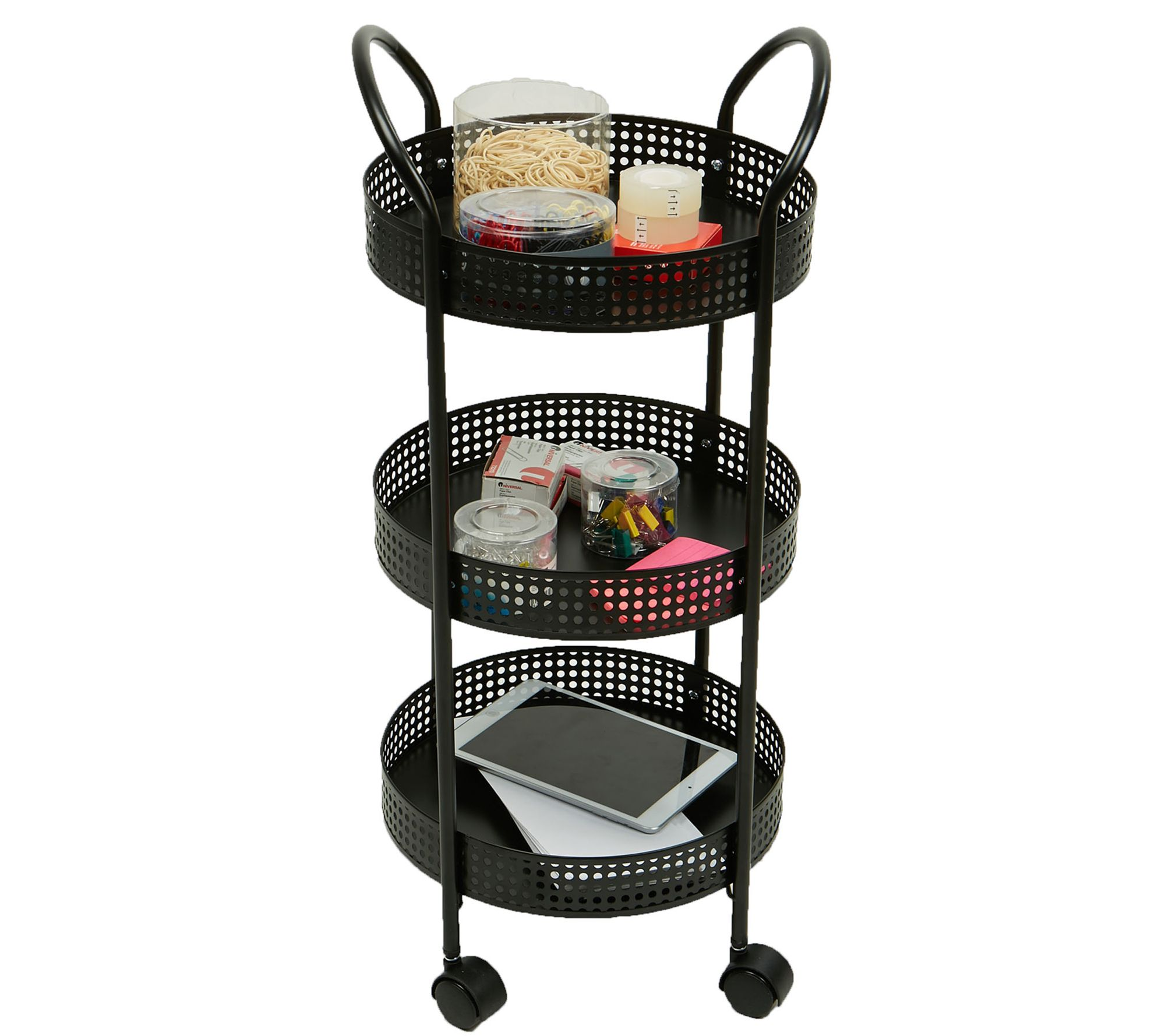 Mind Reader 3 Tier Multi Purpose Utility Cart With Wheels Qvc Com