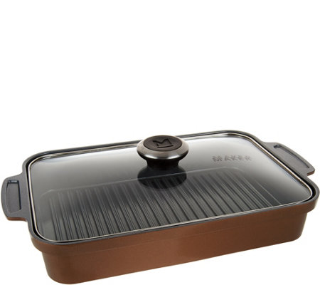 Maker Homeware Rectangular Ceramic Steam Grill Pan
