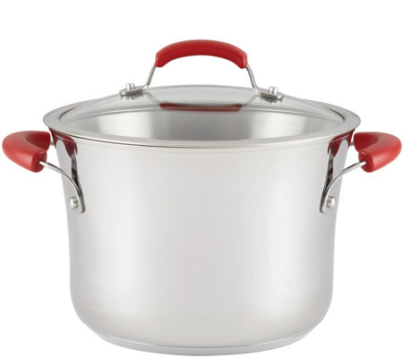 Rachael Ray 6.5-Quart Stainless Steel NonstickStockpot w/ Lid