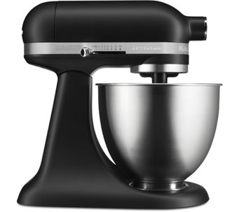 KitchenAid Mini 3.5 Quart Tilt Head Stand Mixer  Matte Black   K375411