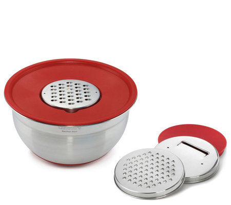 Cuisinart Multi-Prep Bowl with Graters - Red