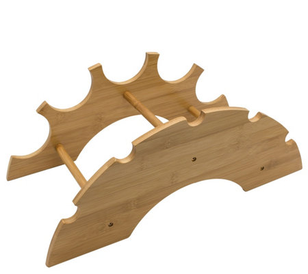 Sorbus Bamboo 5-Bottle Wine Rack