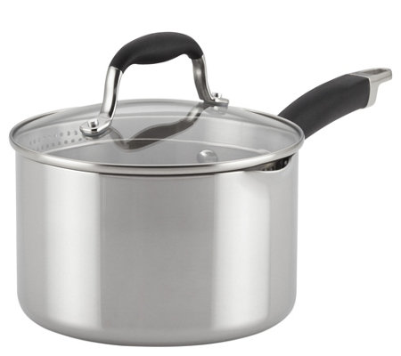 Anolon 3-qt Tri-Ply Clad Stainless Steel Saucepan