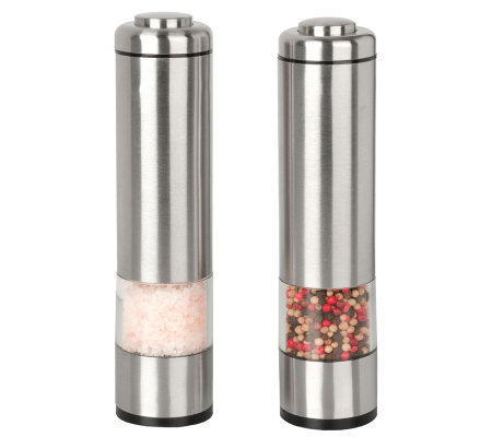 Kalorik Salt and Pepper Grinder Set - Brushed Stainless Steel