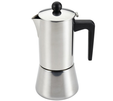 BonJour 9-oz Coffee Stainless Steel Stovetop Espresso Maker