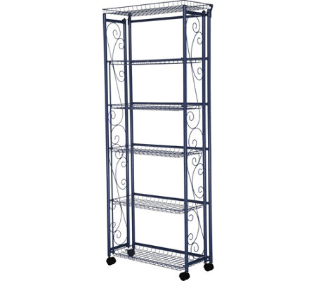 Cook's Essentials 6-Tier Rolling Pantry Rack