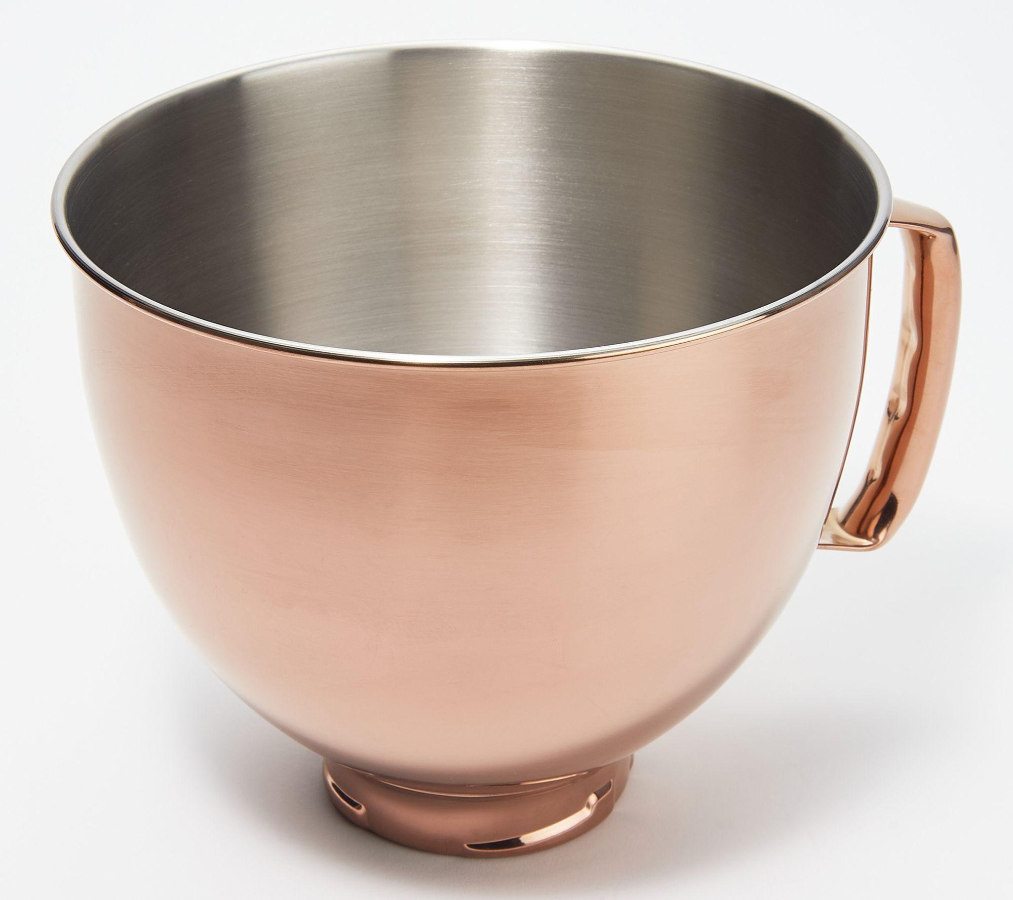 Kitchenaid 5 Qt Radiant Stainless Steel Mixing Bowl Qvc Com